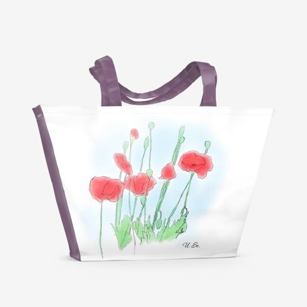 Пляжная сумка «Любимые Маки»