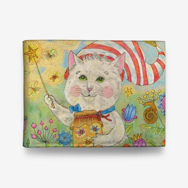 Кошелек «Кот волшебник в сказочном саду»