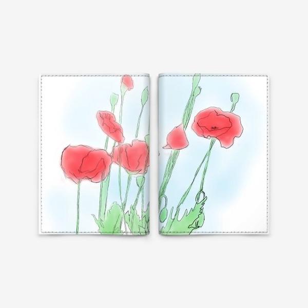 Обложка для паспорта «Любимые Маки»