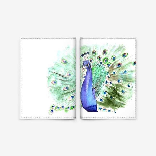 Обложка для паспорта «Павлин»