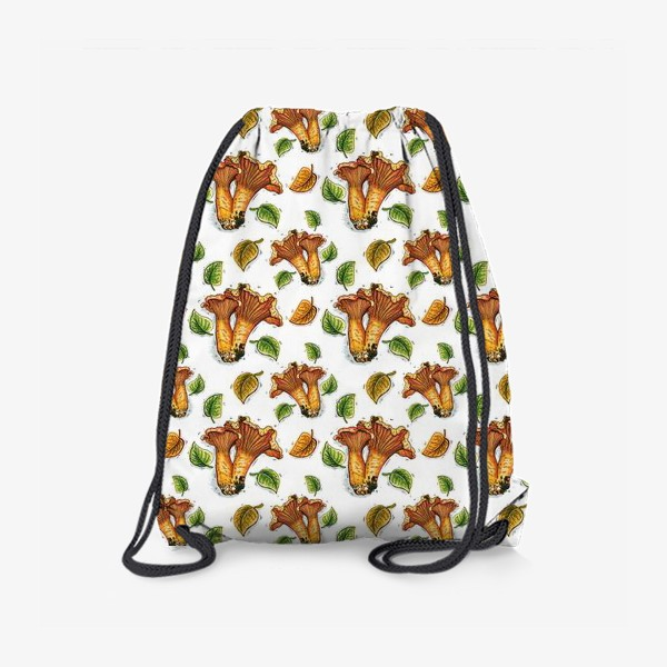 Рюкзак «Грибы лисички, паттерн»