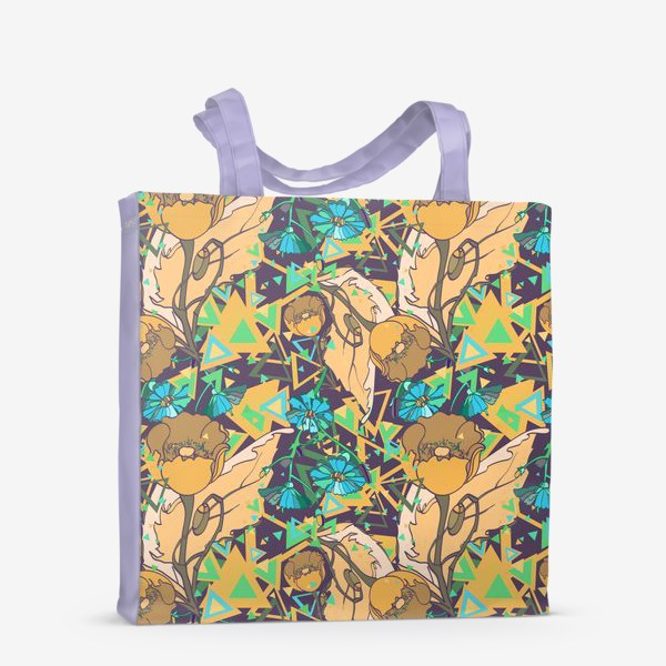 Сумка-шоппер «Паттерн с желтыми маками»