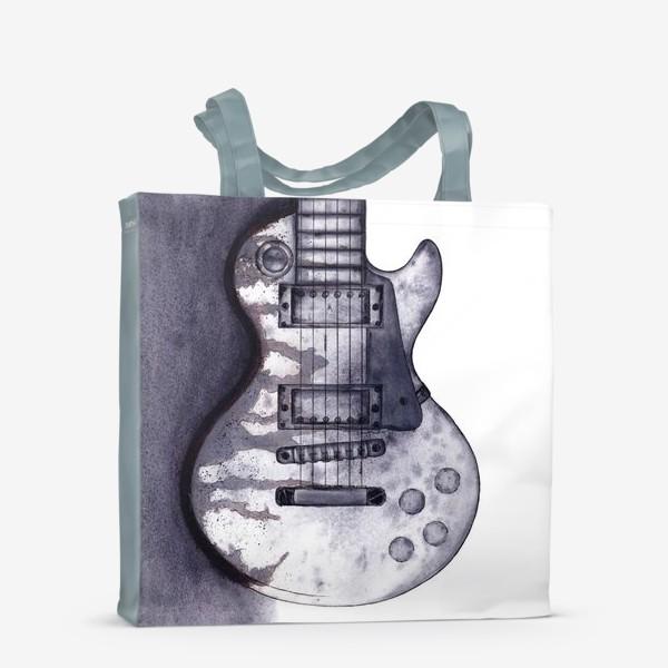 Сумка-шоппер «Гитара акварель графика»