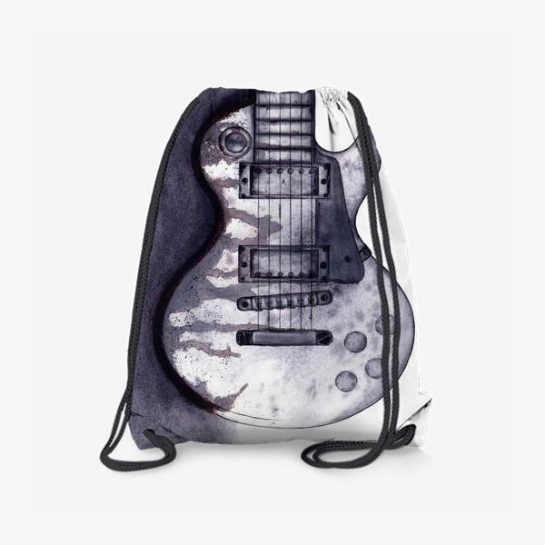 Рюкзак «Гитара акварель графика»