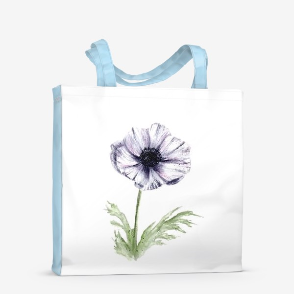 Сумка-шоппер «Акварельный цветок анемон»