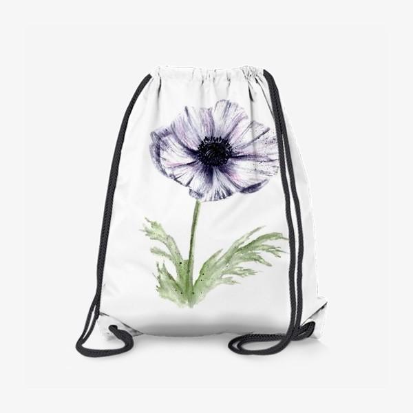 Рюкзак «Акварельный цветок анемон»