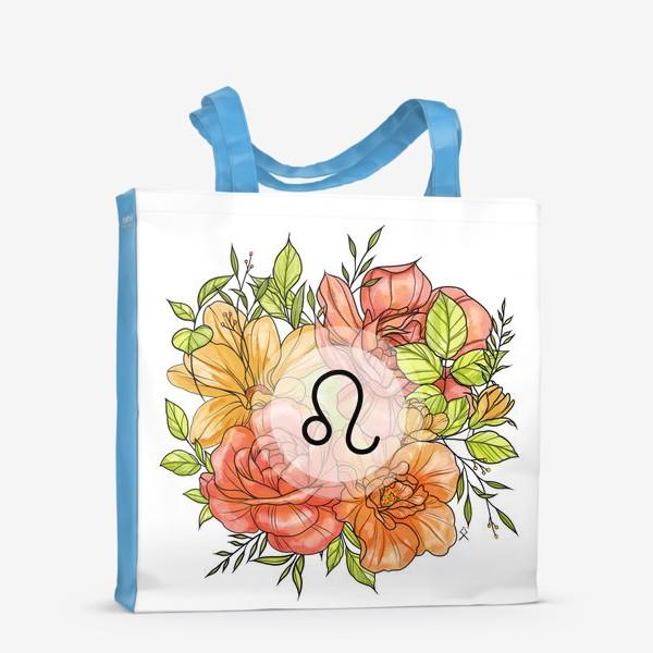 Сумка-шоппер «Знак зодиака Лев цветочный »