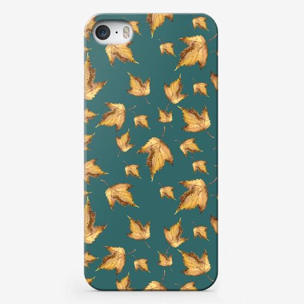 Чехол iPhone «Осенние листья паттерн»
