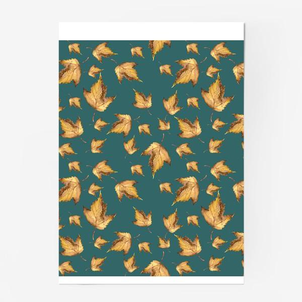 Постер «Осенние листья паттерн»