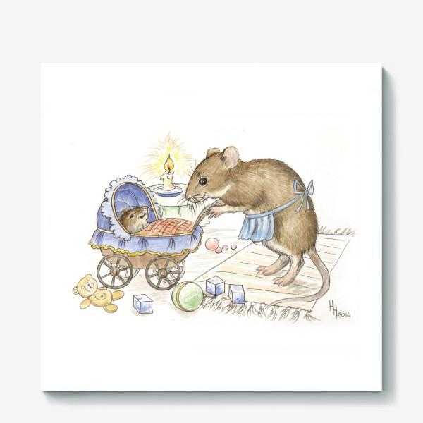 Холст «Мама мышь»