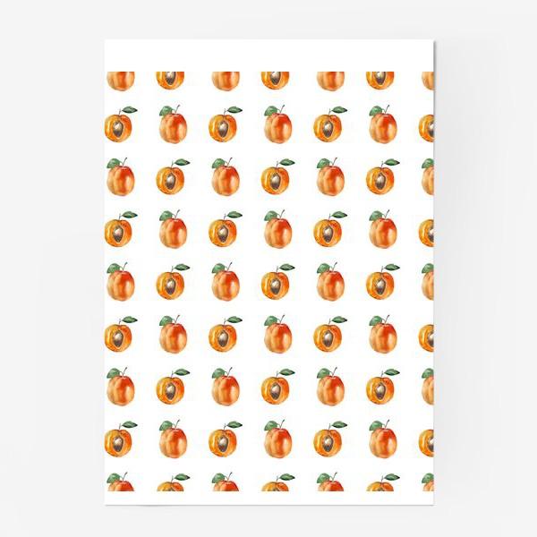Постер «Сладкие абрикосы паттерн»