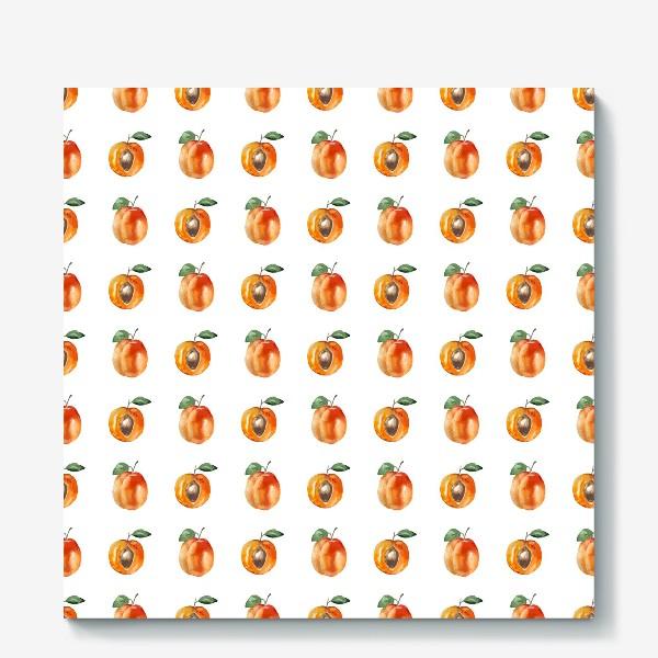 Холст «Сладкие абрикосы паттерн»