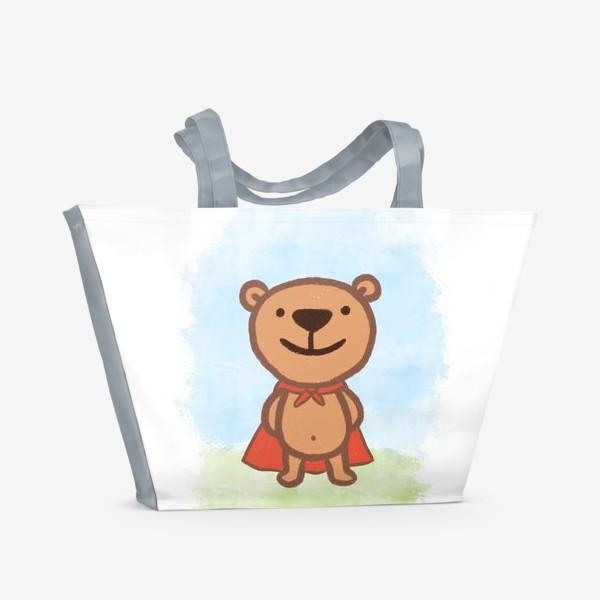 Пляжная сумка «Мишка - супергерой»