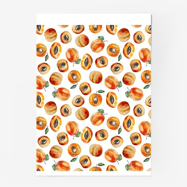 Постер «Сладкие абрикосы коллаж»
