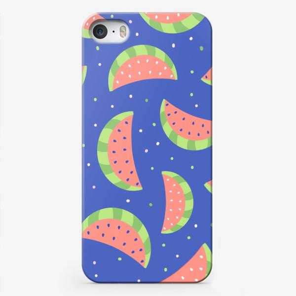 Чехол iPhone «Милые дудлы арбузы.  Ягоды, фрукты. Нежный детский узор »
