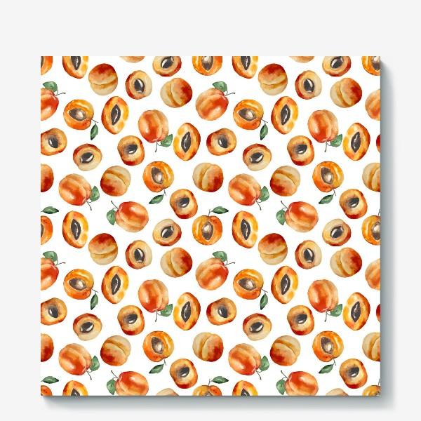 Холст «Сладкие абрикосы коллаж»