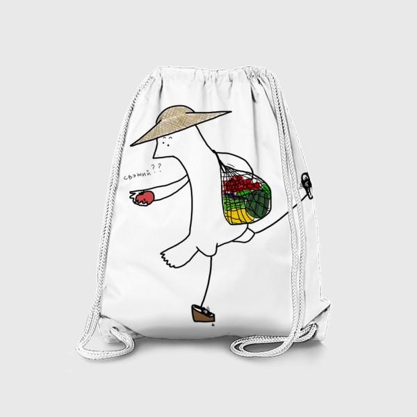 Рюкзак «Птица на летнем рынке»