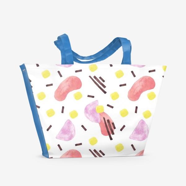 Пляжная сумка «Акварельная абстракция»