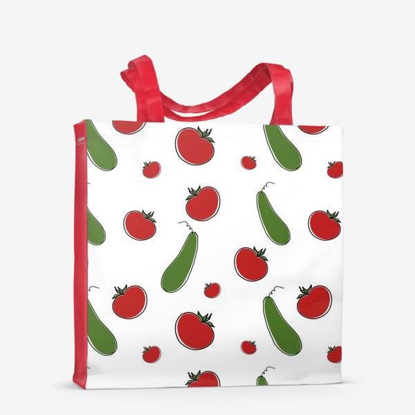 Сумка-шоппер «Паттерн из томатов и огурцов »