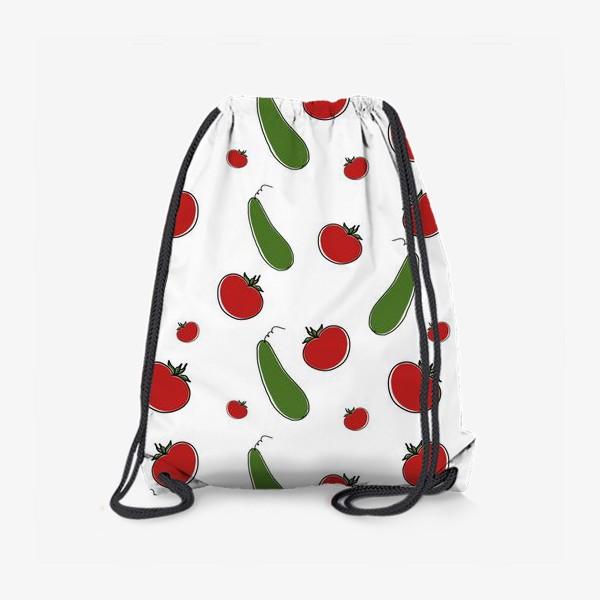 Рюкзак «Паттерн из томатов и огурцов »