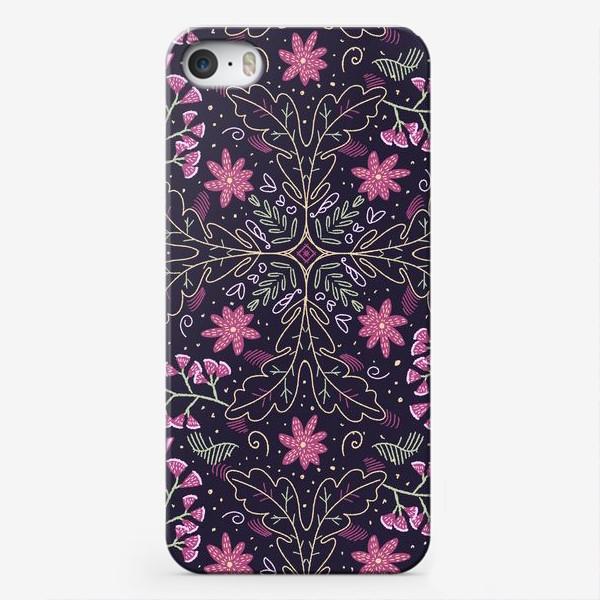 Чехол iPhone «Розовая арабеска»