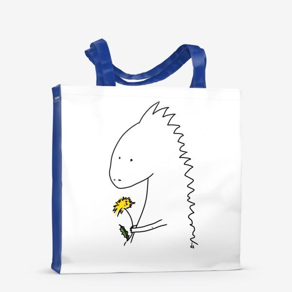 Сумка-шоппер «Динозаврик с одуванчиком »