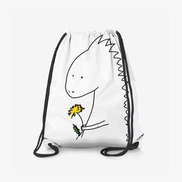 Рюкзак «Динозаврик с одуванчиком »