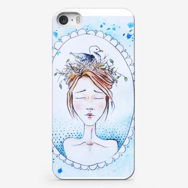 Чехол iPhone «Девушка с чайкой»