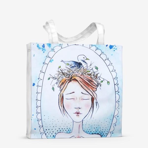Сумка-шоппер «Девушка с чайкой»
