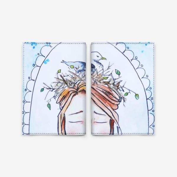 Обложка для паспорта «Девушка с чайкой»
