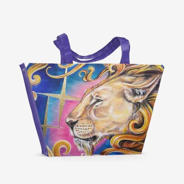 Пляжная сумка «Звездный лев »