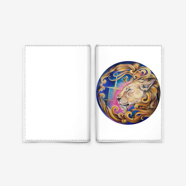 Обложка для паспорта «Звездный лев »
