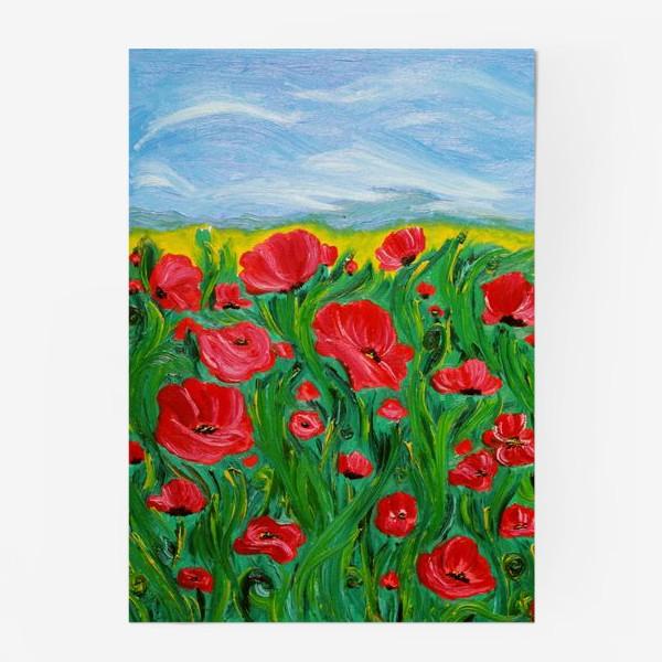 Постер «Красные маки»