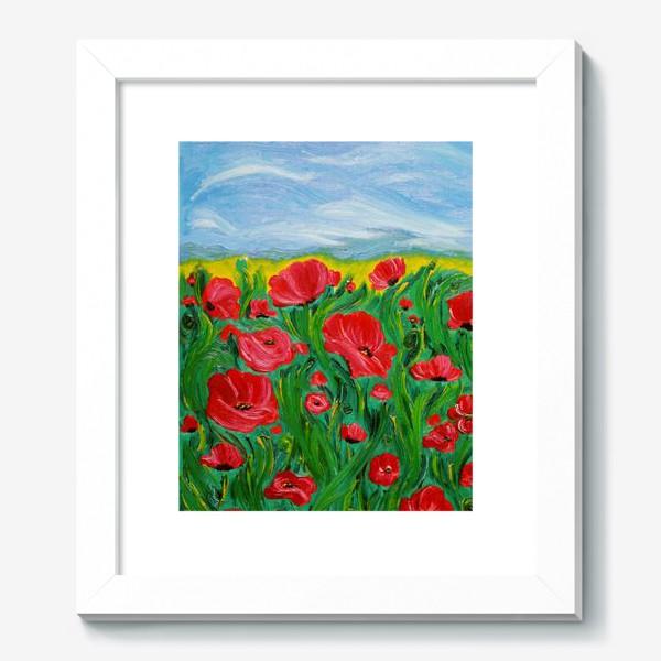 Картина «Красные маки»