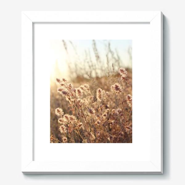 Картина «В поле на закате»