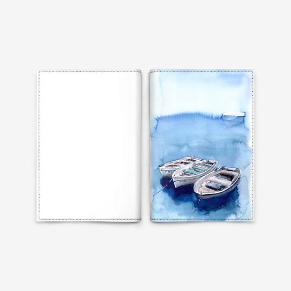 Обложка для паспорта «Морской сюжет с лодками»