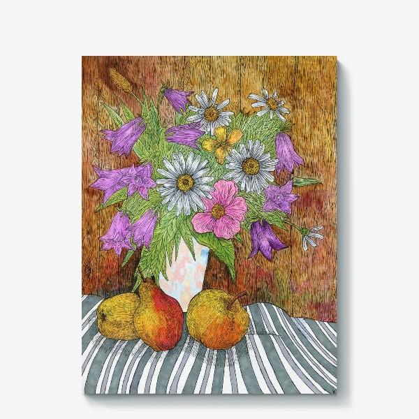 Холст «Яркий букет цветов»