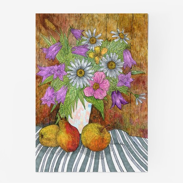 Постер «Яркий букет цветов»