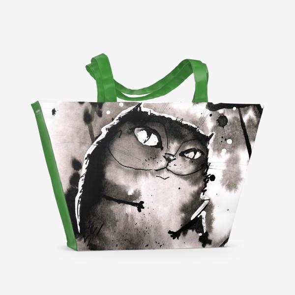 Пляжная сумка «Кот - Бегемот»