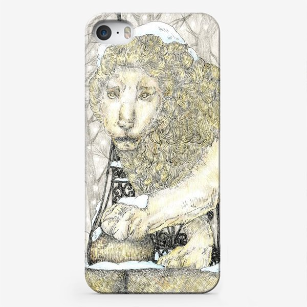 Чехол iPhone «Старый добрый Лев и коты»