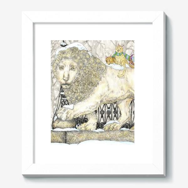 Картина «Старый добрый Лев и коты»