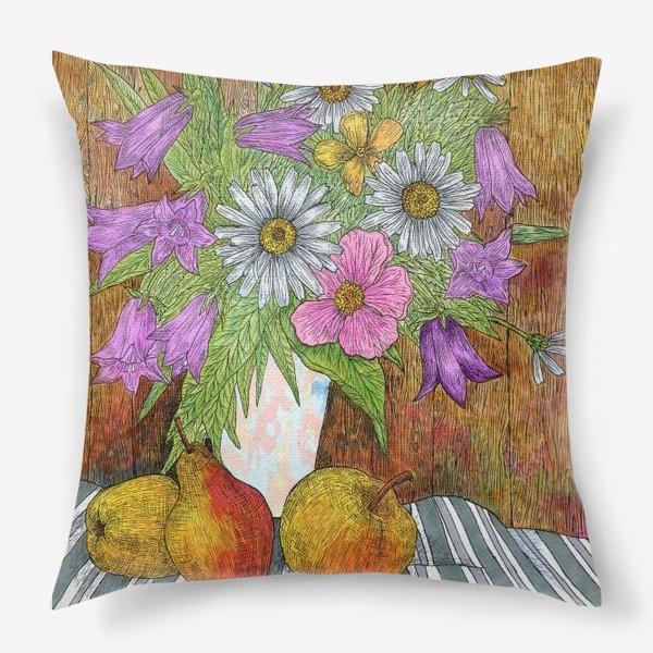 Подушка «Яркий букет цветов»