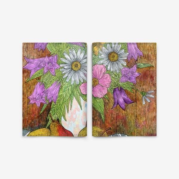 Обложка для паспорта «Яркий букет цветов»