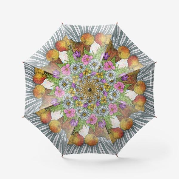 Зонт «Яркий букет цветов»