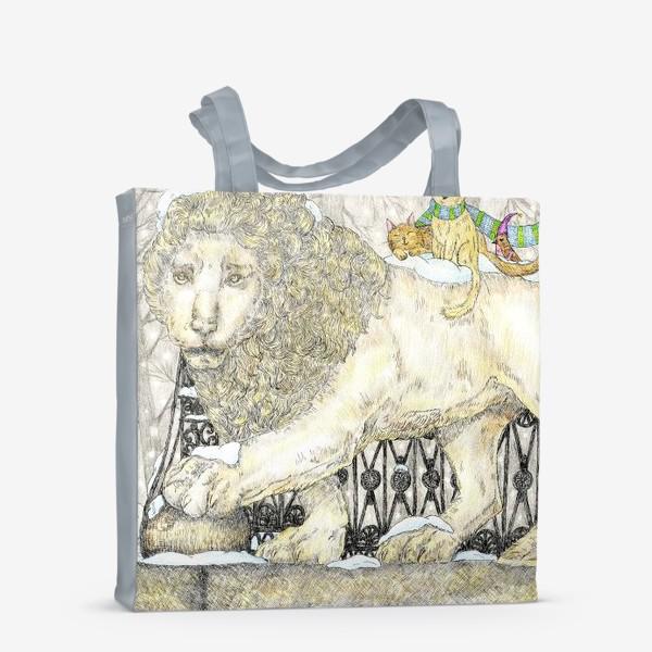 Сумка-шоппер «Старый добрый Лев и коты»