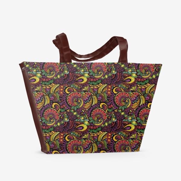 Пляжная сумка «Яркий этнический паттерн»