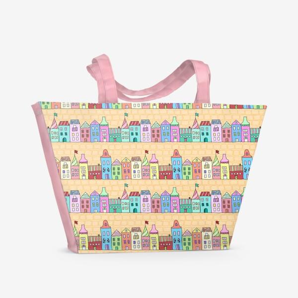 Пляжная сумка «Городские улочки»