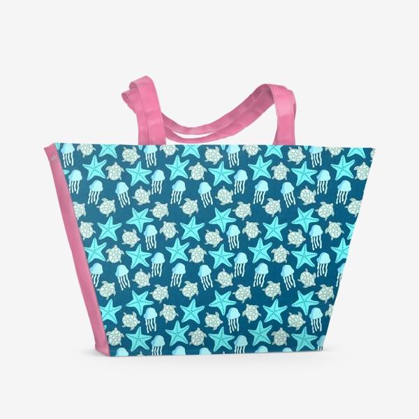 Пляжная сумка «Морские обитатели»