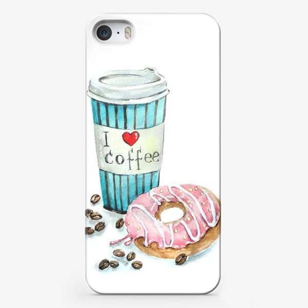 Чехол iPhone «i love coffee»