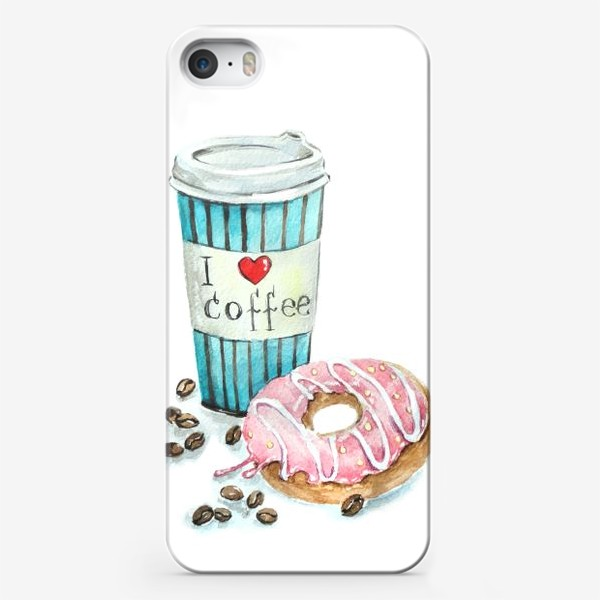 Чехол iPhone «i love coffee»